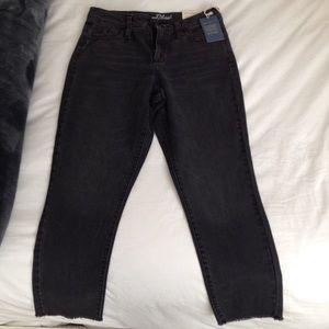 NWT UNIVERSAL THREADS Black Fringe Mom Jeans